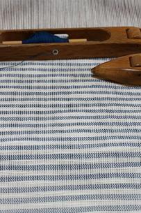 織作業の棉織物の写真素材 [FYI03352107]