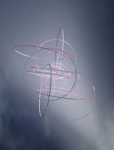 赤いリングボリュームライトイメージCGの写真素材 [FYI03353201]