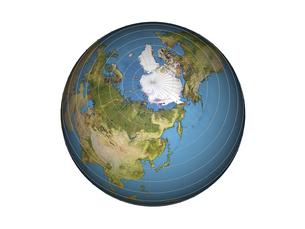 北半球(3DCG)の写真素材 [FYI03353204]