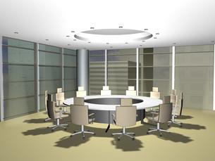 バーチャル会議室(3DCG)の写真素材 [FYI03353207]