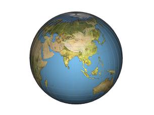アジア大陸(3DCG)の写真素材 [FYI03353208]