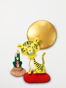 虎の新年挨拶のイラスト素材 [FYI03354047]