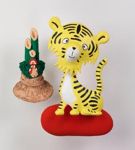 虎の新年挨拶のイラスト素材 [FYI03354054]