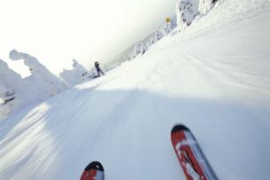 山形蔵王スキー場とスキー板 山形市 山形県の写真素材 [FYI03354287]