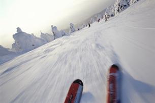山形蔵王スキー場とスキー板 山形市 山形県の写真素材 [FYI03354292]