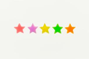星形の砂糖菓子の写真素材 [FYI03354721]