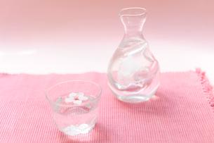 花見の冷酒の写真素材 [FYI03354758]