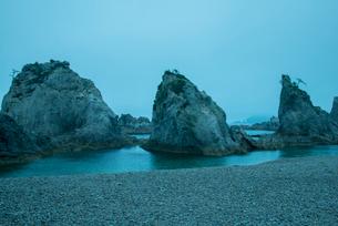 三陸復興国立公園早朝の浄土ヶ浜の写真素材 [FYI03355054]
