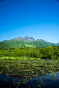 いもり池と妙高山の写真素材 [FYI03355682]