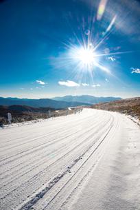 冬の霧ヶ峰ビーナスラインの写真素材 [FYI03355884]