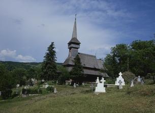 ポイエニレイゼイの木造教会の写真素材 [FYI03356284]