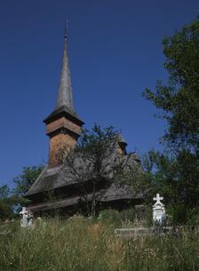 デセシティの木造教会の写真素材 [FYI03356285]