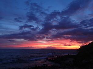 ワイレア・ビーチの夕焼けの写真素材 [FYI03358297]