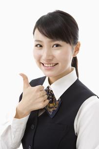制服姿の日本人20代女性の写真素材 [FYI03361644]