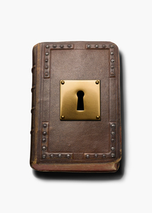 書物とカギ穴の写真素材 [FYI03361759]