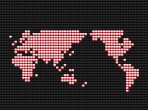 クリスタルの世界地図の写真素材 [FYI03361767]