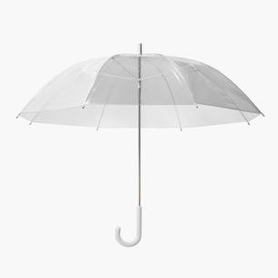 透明のビニール傘の写真素材 [FYI03361769]