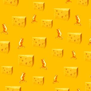 チーズのパターンのイラスト素材 [FYI03361782]
