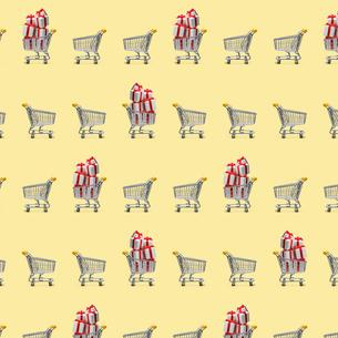 ショッピングカートのパターンの写真素材 [FYI03361795]