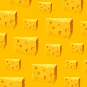 チーズのパターンのイラスト素材 [FYI03361799]