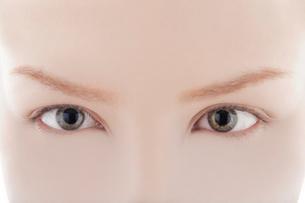 前を見つめる女性の目の写真素材 [FYI03362086]
