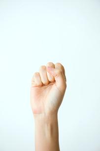 女性の拳の写真素材 [FYI03362336]