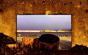 木材廃棄場の写真素材 [FYI03362806]