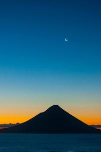 開門岳の朝焼けの写真素材 [FYI03364591]