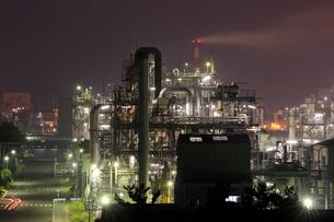 鹿嶋工業地帯の夜景を望むの写真素材 [FYI03364695]
