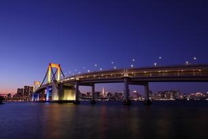レインボーブリッジ夕景の写真素材 [FYI03364702]