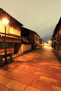 北陸金沢,ひがし茶屋街の写真素材 [FYI03364779]