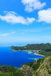 小笠原諸島父島・旭山南峰より二見港を望むの写真素材 [FYI03364852]