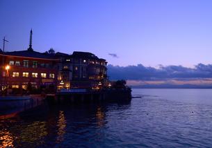 江の島の風景 ブルーモーメントの写真素材 [FYI03364937]
