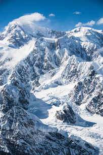 北米最高峰デナリ山頂の写真素材 [FYI03365166]