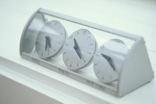 三カ国の時間の時計の写真素材 [FYI03368183]