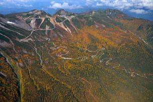 乗鞍岳、秋色のエコーラインの写真素材 [FYI03372135]