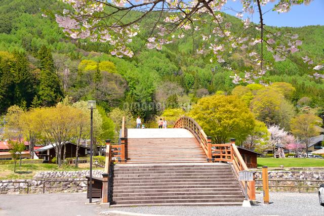 木曽奈良井宿、奈良井大橋の写真素材 [FYI03373020]