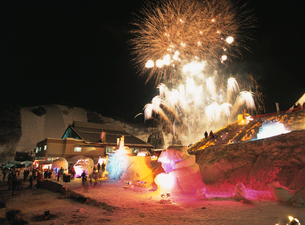田沢湖高原雪祭りの写真素材 [FYI03373664]