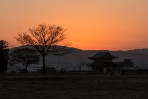 平城宮跡の朝の写真素材 [FYI03373972]