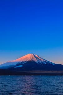 山中湖よりのぞむ富士山の写真素材 [FYI03374409]