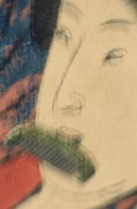 櫛を加える人物   三代豊国の作品のイラスト素材 [FYI03374967]