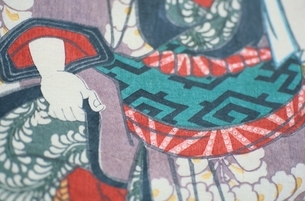 着物の人物  三代豊国の作品のイラスト素材 [FYI03374980]