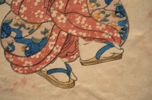 草履を履く人物  三代豊国の作品のイラスト素材 [FYI03374987]