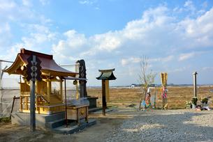 湊神社が遷座した富主姫神社の社殿の写真素材 [FYI03375198]