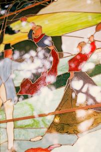 山手テニス発祥記念館のステンドグラスの写真素材 [FYI03375403]