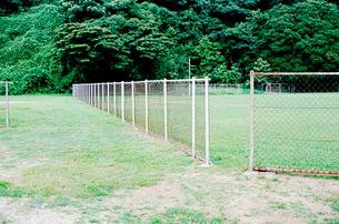 蒲郡海岸の運動公園のフェンスの写真素材 [FYI03375408]