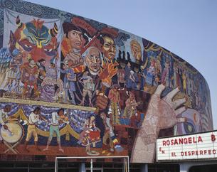 インスルヘンテス劇場の壁画 メキシコシティ  メキシコの写真素材 [FYI03376235]