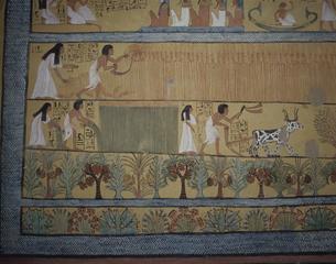壁画  デールエルメディアセノジィウム エジプトの写真素材 [FYI03376318]