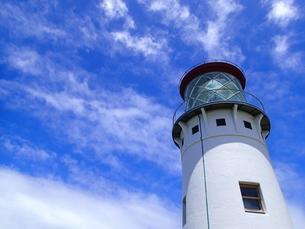 カウアイ島のキラウェア灯台の写真素材 [FYI03376453]