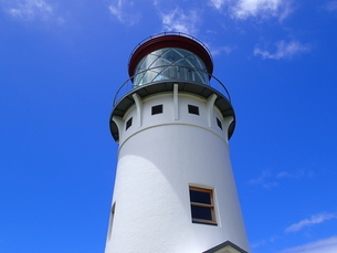 カウアイ島のキラウェア灯台の写真素材 [FYI03376504]